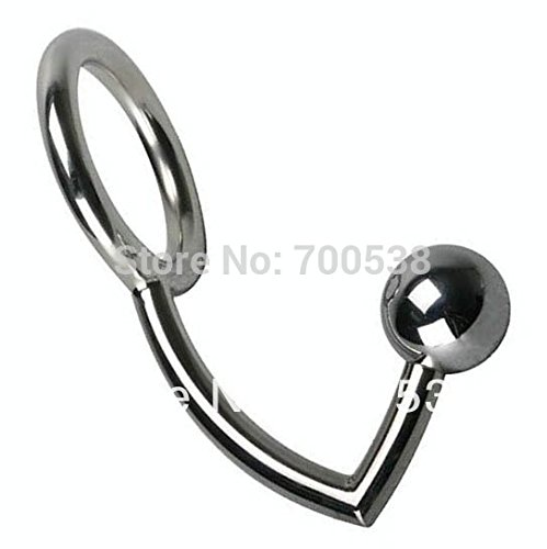 Male Chastity Cock Lock + Anal Plugs /Cock Lock intruder with ball /Male metal Anal hook ring Alternative sex toys