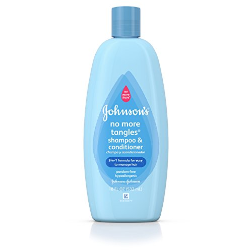 Johnson's No More Tangles Extra Conditioning Shampoo & Detangler, 18 Fl. Oz. (Pack of 2)