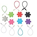 FiveRen Rockstar Multi Headset Splitter 3.5mm Octopus 1 Male to 2 3 4 5 Female Cable Audio Earphone Splitter Adapter Converter (7-Pack, 7-Colors)