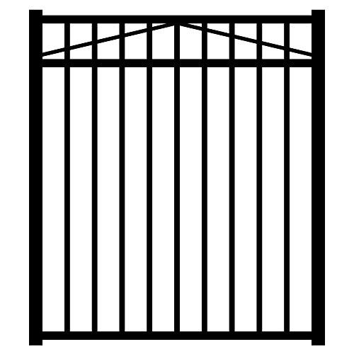 Jerith Black 3-Rail Style Single Aluminum Walk - Aluminum Ornamental Gates