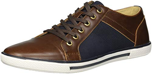 Unlisted by Kenneth Cole Men's Crown Sneaker B, Navy/Brown, 8.5 M US
