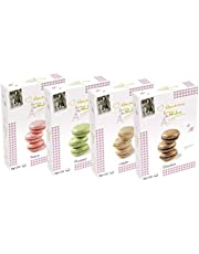Macarons de Pauline Set van 4, Aardbei, Pistache, Vanille, Chocolade (4x72g)