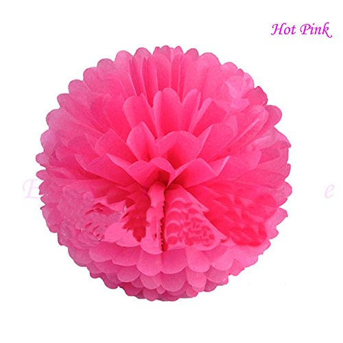 Costume Sham Wow (10 Pcs Tissue Paper Pom Poms Flower Ball Xmas Party Wedding Baby shower Home Decore 10