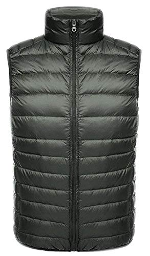 Down Vest Men Vest Down Vests Vest Men Quilted Men Unique Packable Down Jacket Sleeveless Ultralight D Nne Outdoor Vest Bodywarmer Mitten Jacket Autumn Winter Armeegrün