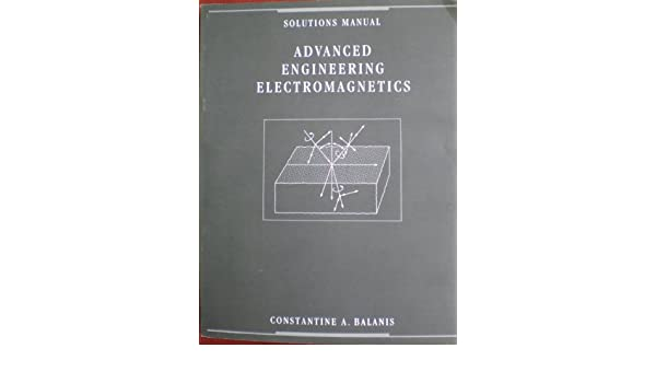 Advanced Engineering Electromagnetics Pdf