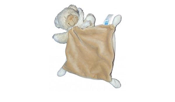 Doudou oso plana Beige bufanda blanca Tex Baby Carrefour rombo ...