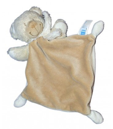 Doudou oso plana Beige bufanda blanca Tex Baby Carrefour ...