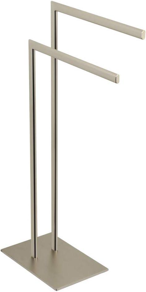 Brushed Nickel Kingston Brass SCC3098 Edenscape Pedestal Dual Towel Rack