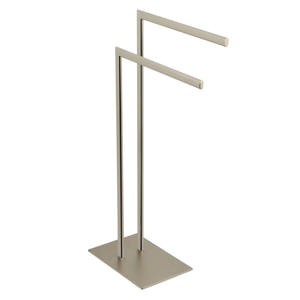 Kingston Brass SCC3098 Edenscape Pedestal Dual Towel Rack Brushed Nickel
