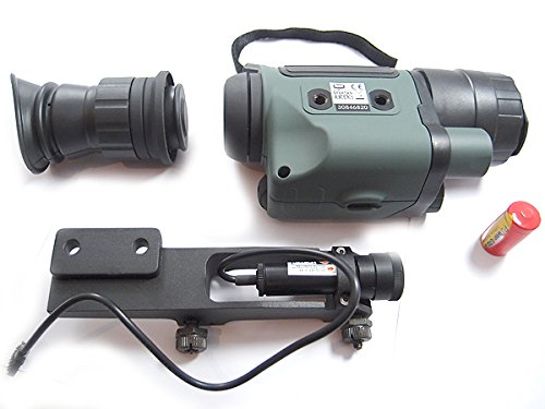 NVMT5 Complex Night Vision Rifle Scope, Detachable 3x42 Monocular w/ Infrared and Red Dot Laser Sight (Best Red Dot For Night Vision)
