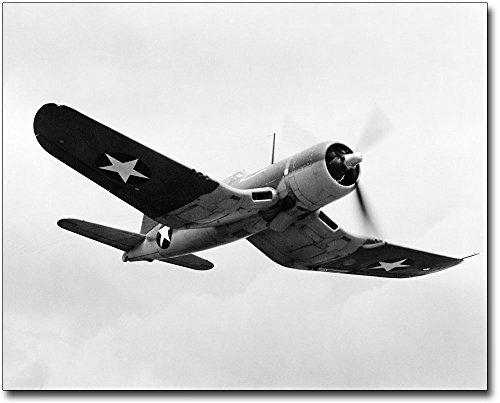 Chance Vought F4U Corsair WWII Aircraft 8x10 Silver Halide Photo Print ()