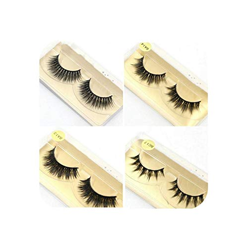 50 Pairs/Lot Wholesale Eyelashes Faux Mink Lashes Handmade False Eyelash 3D Strip Mink Eyelashes Fake Faux Eyelashes Makeup,0.07Mm,8A13 50 Pair