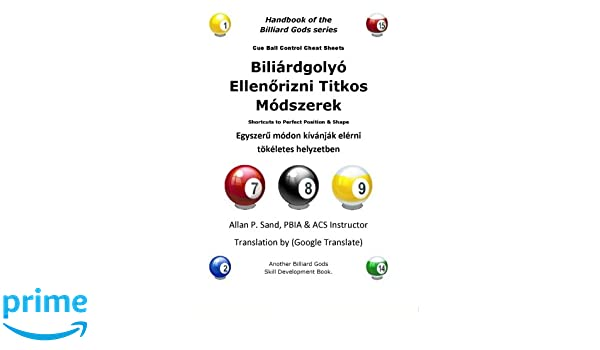 Cue Ball Control Cheat Sheets (Hungarian): Shortcuts to