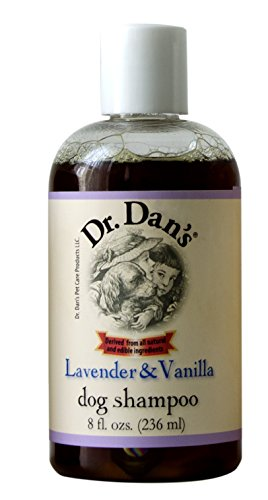 Dr. Dan's Dog Shampoo. All Natural, Lavender & Vanilla scent with Lanolin. Vet developed. For a protected, glossy coat, sensitive & itchy skin, dandruff, bad odors - (New York Dog Wool)