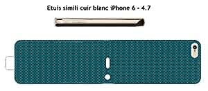 "Diseño MÃ © tal perforã © color scuba blue para Apple fundas piel blanco iPhone 6–4.7"""
