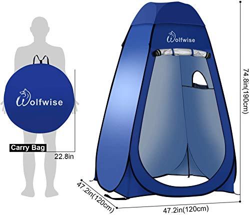 413QoR0bMoL Wolfwise Pop up Umkleidezelt Toilettenzelt, Camping Duschzelt Mobile Outdoor Privatsphäre WC Zelt Lagerzelt, Tragbar