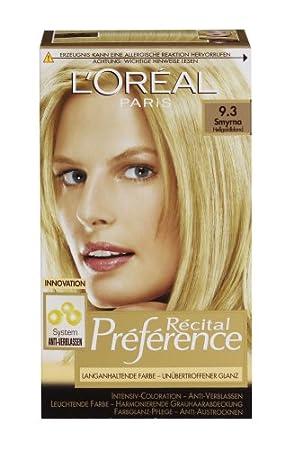 Récital L'Oréal Paris 3 Haarfarbe9 Préférence Hellgoldblond hrCtsQdx