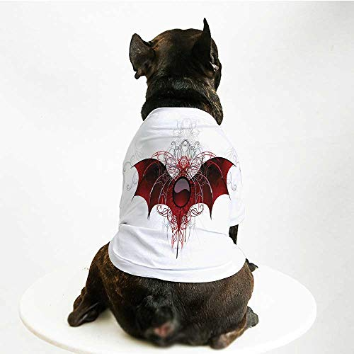 - YOLIYANA Vampire Soft Pet Suit,Round Figure with Dragon Wings Grungy Display Victorian Ornaments Antique Style Decorative for Cats and Dogs,S