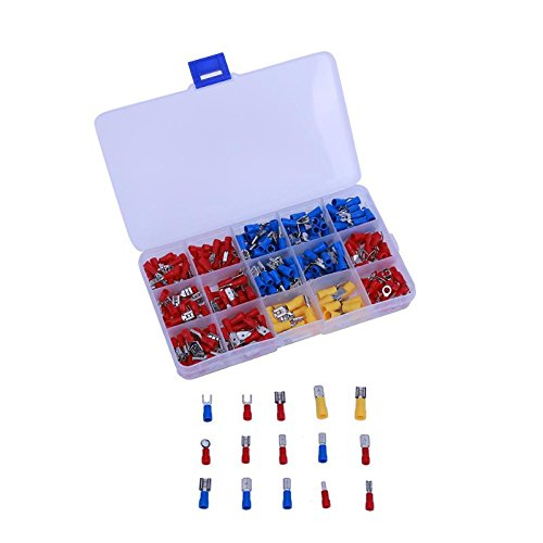 UTP 280pcs Female Male Wire Terminal Assortment Insulated Spade Wire Crimp Terminal Electrical Connector Cable Terminals Set - Crimp Utp Cable