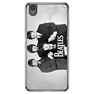 Loud Universe Oneplus X The Beatles Printed Transparent Edge Case - Grey