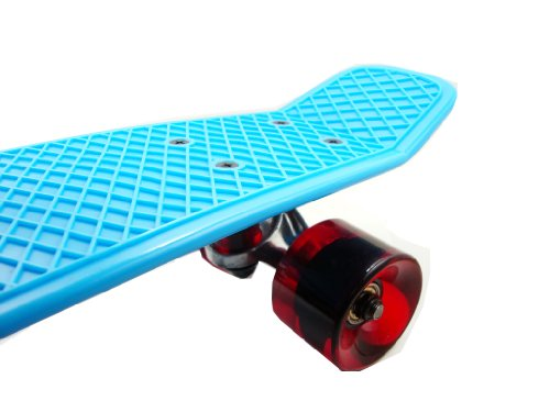 "Sun Boards 22"" Complete Mini Skateboard Colorful Decks and Wheels - Great For Beginners and Kids"