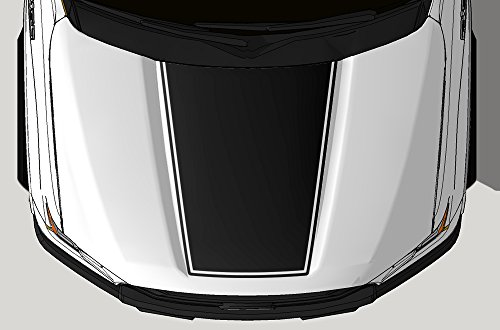 Factory Crafts Blackout Hood V2 Graphics Kit 3M Vinyl Decal Wrap Compatible with Ford F-150 2015-2017 - Matte Black