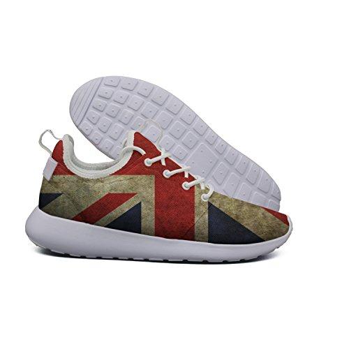 (HASIDHDNAC Great Britain Flag British Flag Blue Jogging Work Shoes Women's Lightweight Sport Running Sneaker)