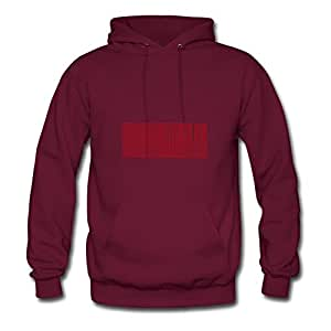 Personalized Honu Cotton Women Chic X-large Hoody Burgundy