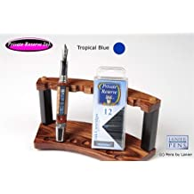 12 Pack Universal Fountain Pen Cartridges - Tropical Blue