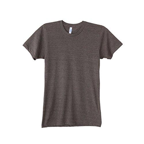 American Apparel Unisex Tri-blend Short Sleeve Track T-Shirt (M) (Tri-Coffee) (American Apparel Mens Tee)