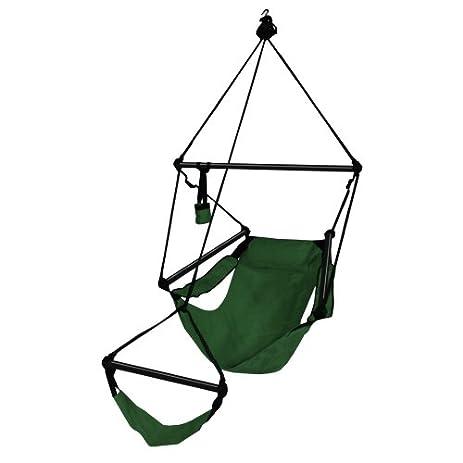 Perfect Hammaka Hanging Hammock Air Chair, Aluminum Dowels, Green