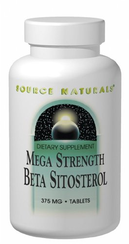 Source Naturals Mega Strength Beta Sitosterol, 375 mg, Maintains Healthy Cholesterol Levels, 60  Tablets
