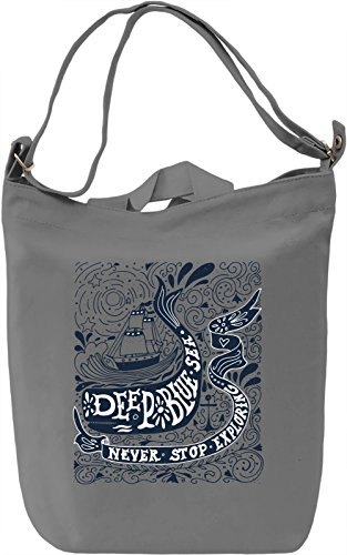 Deep blue sea Borsa Giornaliera Canvas Canvas Day Bag| 100% Premium Cotton Canvas| DTG Printing|