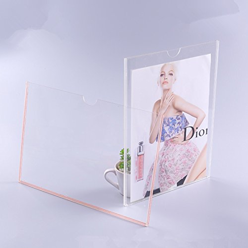 2PCS Of Single-layer Wall Mounted Clear Acrylic information Holder,Plexiglass Adhesive Sign Holder (A7 Vertical) supplier