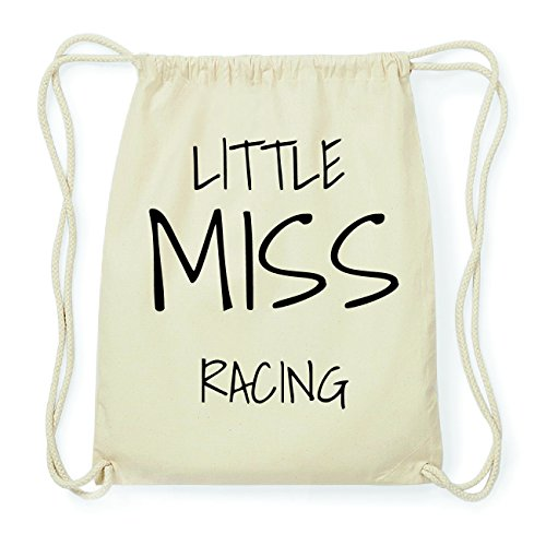 JOllify RACING Hipster Turnbeutel Tasche Rucksack aus Baumwolle - Farbe: natur Design: Little Miss