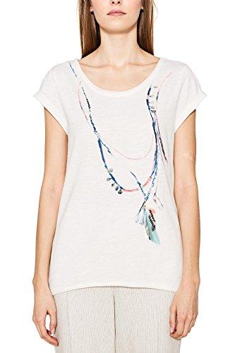 ESPRIT, Camiseta para Mujer Multicolor (Off White)