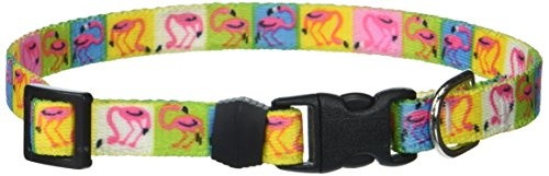Yellow Dog Design Pink Flamingo Dog Collar, X-Small-3/8 Wide and fits Neck Sizes 8 to 12