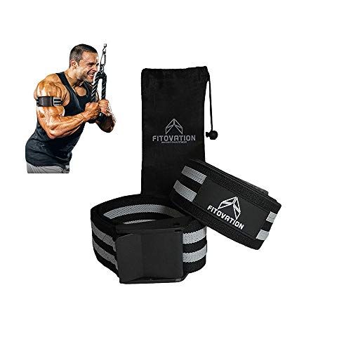 Fitovation Occlusion Straps - Workout Bands for Blood Flow Restriction Training - Gain Lean Muscle Mass Without Lifting Heavy - Pack of 2 Strong Elastic Straps for Arms & Legs - Safe & Easy to Use