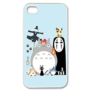 DIY My Neighbour Totoro Custom Case Shell Cover for iPhone 4 sS TPU (Laser Technology)