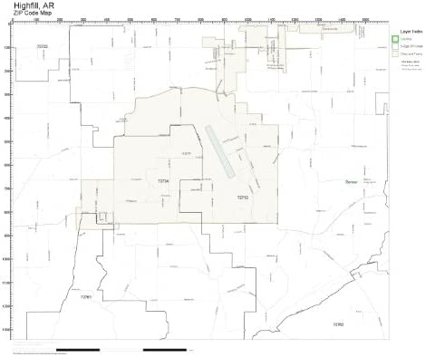 ZIP Code Wall Map of Hot Springs AR ZIP Code Map Not Laminated