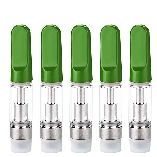(5 Pack Ceramic Wickless Cell Cartridge 0.5ml Acessaries for C-C-E-L-L (Green))