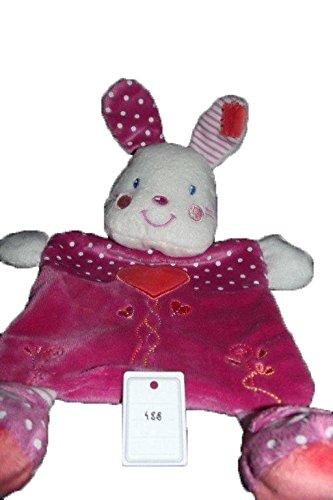 Kiabi – Doudou Nicotoy Kiabi conejo plana rosa corazón naranja sonajero lunares – 488