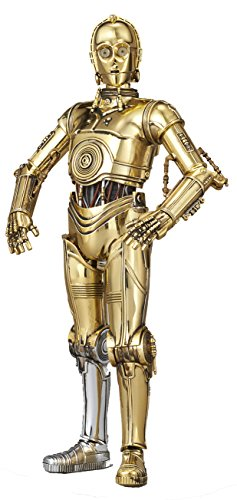 (Bandai Hobby Star Wars Character Line 1/12C-3PO Star Wars Action Figure, White)