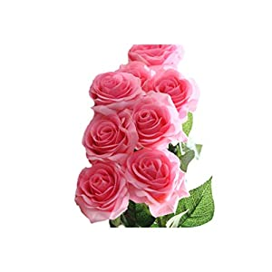 10 Pcs Latex Real Touch Rose Decor Rose Artificial Flowers Silk Flowers Floral Wedding Bouquet Home Party Design Flowers 104