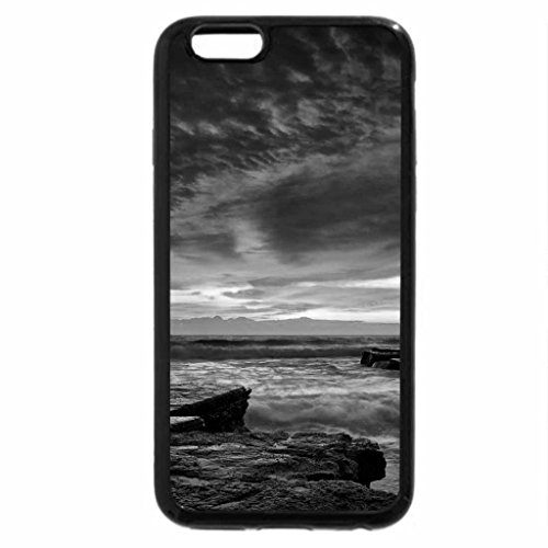 iPhone 6S Case, iPhone 6 Case (Black & White) - beautiful sunset