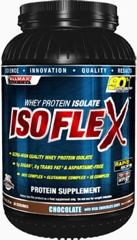 ALLMAX Nutrition Isoflex 100 Ultra-Pure Whey Protein Isolate WPI Ion-Charged Particle Filtration Chocolate 2 lbs 907 g (Nutrition Whey Pure Protein)