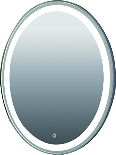 Hanging LED ring light mirror with aluminium sides and dimmable/ON/OFF Button by Bunnyberry Gifts