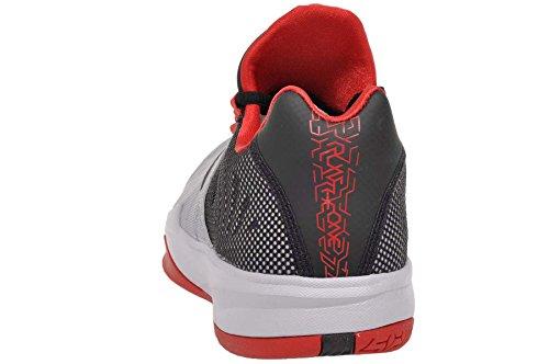 Nike Zoom Run Die Ene Sneakers Wolf Grijs / Zwart-universiteit Rood-puur Platina