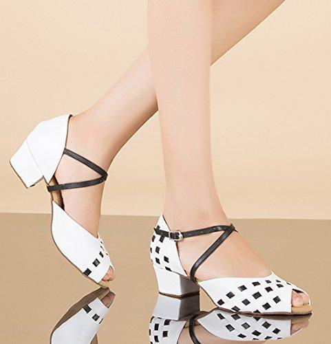 White Joymod Bianco 3 e Heel Donna Moderno 35 EU 5cm MGM Jazz ZYRqw66f