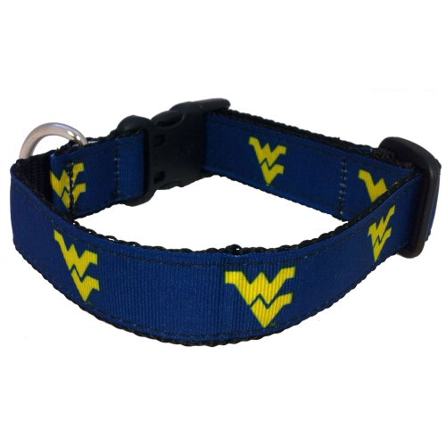 NCAA West Virginia Mountaineers Dog Collar (Team Color, Large)